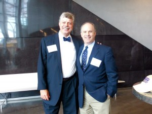 CSNO president Gregg Collins and Lee Pollock,  president of the Churchill Center in the US