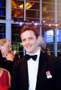 Winston Churchill's great grandson, Capt. Alexander Perkins, at the 2014 Gala