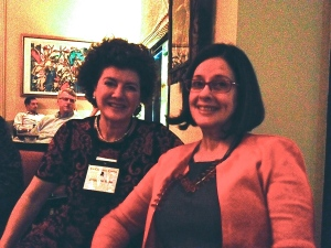 California attendee Jacqueline Witter and CSNO member Betsy Stout share a laugh